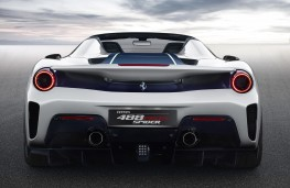 Ferrari Pista Spider rear