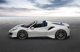Ferrari Pista Spider side