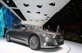 Audi A8, front, Frankfurt Motor Show 2017
