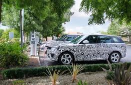 Range Rover plug-in hybrid, charging, Frankfurt Motor Show 2017