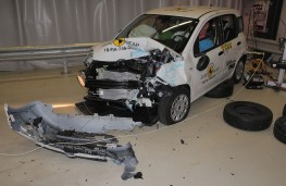 Fiat Panda after  Frontal Offset Impact test