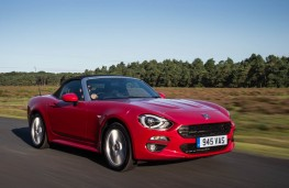 Fiat 124 Spider, action front