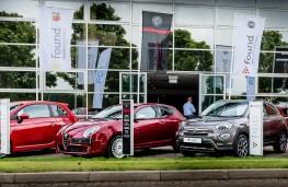 Fiat Alfa Romeo used car forecourt