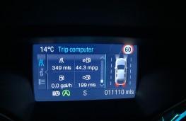 Ford Kuga Titanium X Sport, screen, mpg