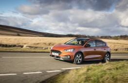 Ford Focus Active, 2019, side, action