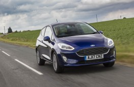Ford Fiesta blue, front action