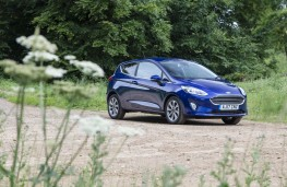 Ford Fiesta blue, front static