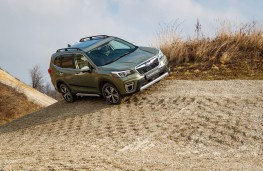 Subaru Forester e-Boxer, 2021, front, off road, slope