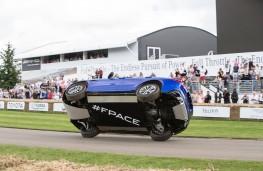 Jaguar F-PACE, Goodwood 2016, stunt, bottom