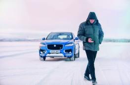 Jaguar F-PACE, Jose Mourinho, ice driving, walk