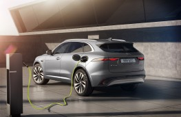 Jaguar F-PACE P400e, 2020, rear, charging