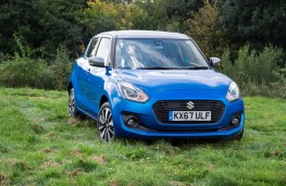 Suzuki Swift 4x4, 2017, front, field