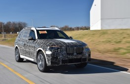 BMW X7, 2018, camouflaged, front