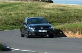 Volkswagen Golf estate, 2017, front, action