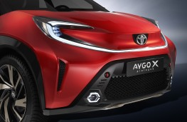Toyota Aygo X prologue, 2021, front, detail