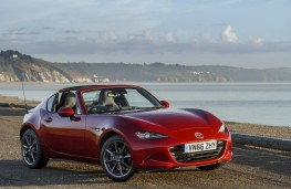 Mazda MX-5 RF, 2017, front, static, roof down