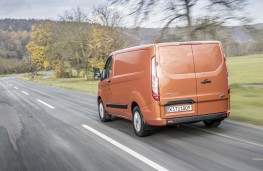 Ford Transit Custom, 2018, rear, action