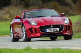 Jaguar F-Type V6 S, front, action