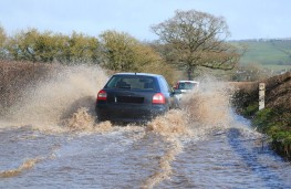 Driving in a flood