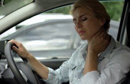 Driver with neck pain