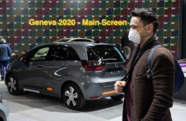 Geneva Motor Show, 2020, man in face mask