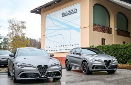 Alfa Romeo Giulia and Stelvio at Balocco