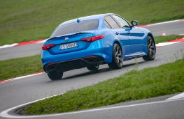 Alfa Romeo Giulia, Balocco, rear, action