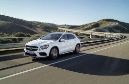 Mercedes-AMG GLA 45, 2017, front, action