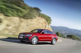 Mercedes-Benz GLC Coupe, 2019, side, action