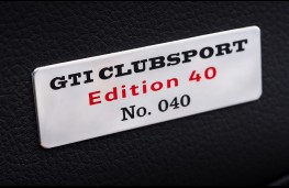 Volkswagen Golf GTI Clubsport Edition 40, 2016, numbered plaque