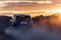 Range Rover Sport SVR, sprint test, gravel, rear