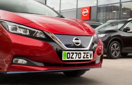Green number plate, 2020, Nissan Leaf