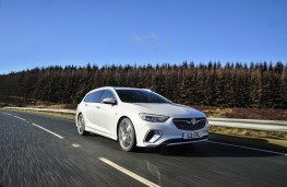 Vauxhall Insignia GSi Sports Tourer, 2019, front, action