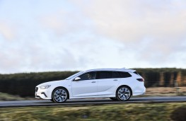 Vauxhall Insignia GSi Sports Tourer, 2019, side, action
