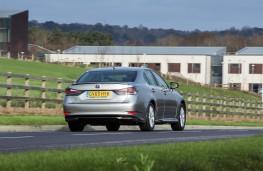 Lexus GS 300h, rear, action
