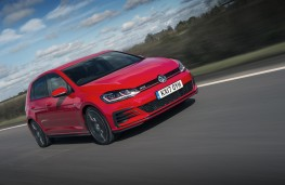Volkswagen Golf GTI, 2017, front, action