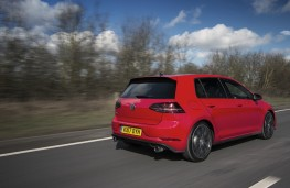 Volkswagen Golf GTI, 2017, rear, action