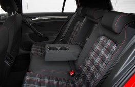 Volkswagen Golf GTI, 2017, rear seats