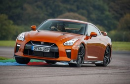 Nissan GT-R, 2017, front, track