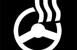 Heated steering wheel symbol