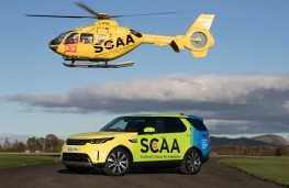 Land Rover Discovery with Scotland's Charity Air Ambulance