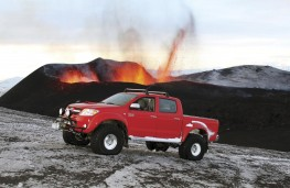 Toyota Hilux, Iceland volcano