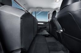 Toyota Hilux, 2016, rear seats, folded