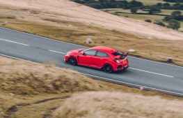 Honda Civic Type R, above action