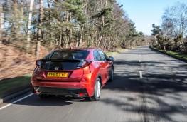 Honda Civic Sport, rear, action