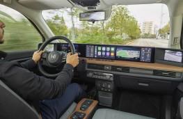 Honda e, 2020, interior, driving