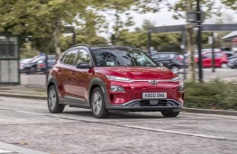 Hyundai Kona Electric, front action city