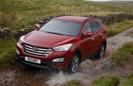 Hyundai Santa Fe, front, off road