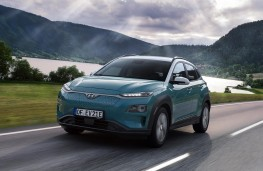 Hyundai Kona Electric front action
