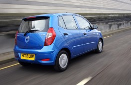 Hyundai i10 Blue, rear